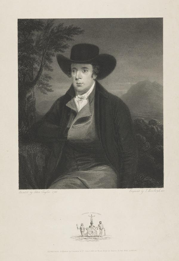 Robert Burns, 1759 - 1796. Poet (1830)