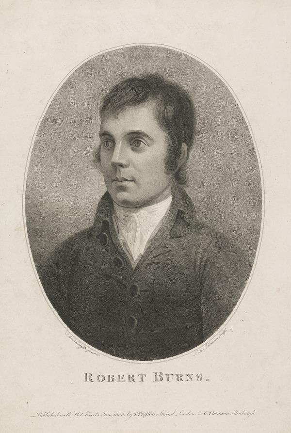 Robert Burns, 1759 - 1796. Poet (Published 1805)