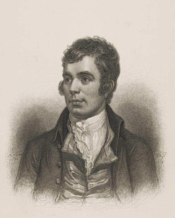 Robert Burns, 1759 - 1796. Poet (Exhibited 1819)