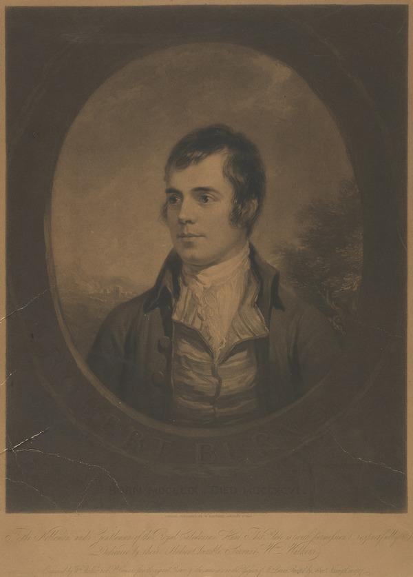 Robert Burns, 1759 - 1796. Poet (Published 1842)