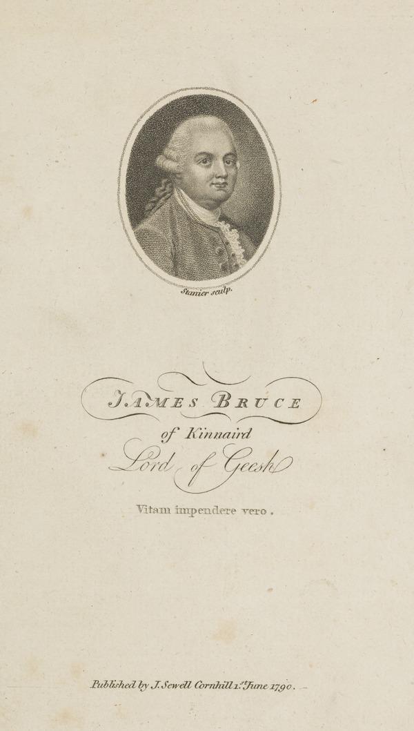 James Bruce of Kinnaird, 1730 - 1794. African explorer (Published 1790)