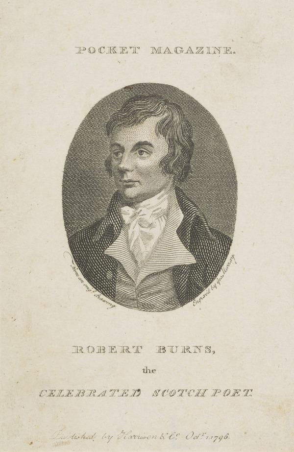 Robert Burns, 1759 - 1796. Poet (1796)