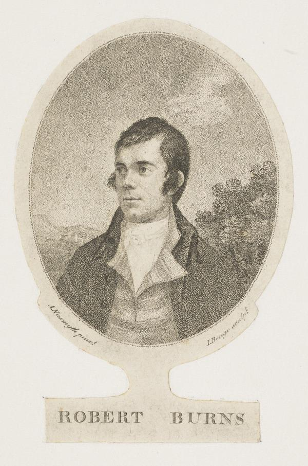 Robert Burns, 1759 - 1796. Poet (Published 1787)