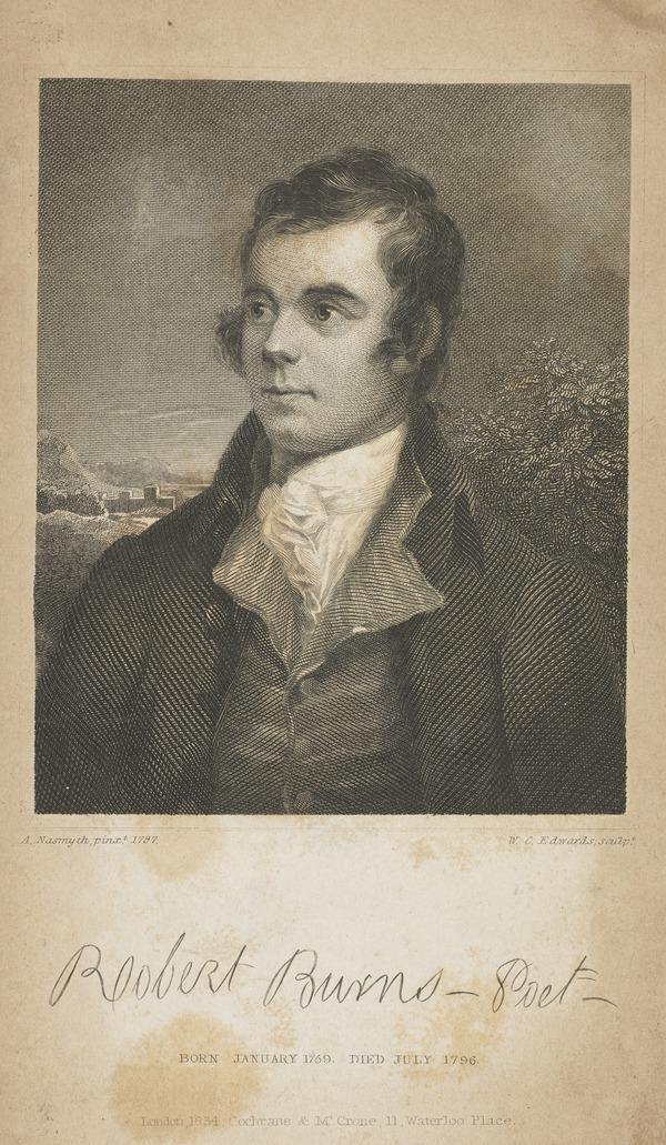 Robert Burns, 1759 - 1796. Poet (Published 1854)