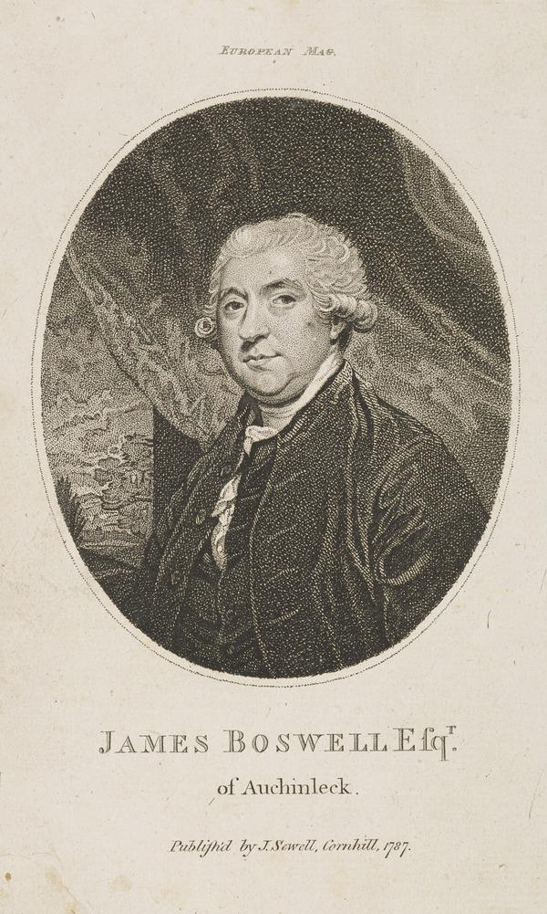 James Boswell, 1740 - 1795. Diarist and biographer of Dr Samuel Johnson (Published 1787)