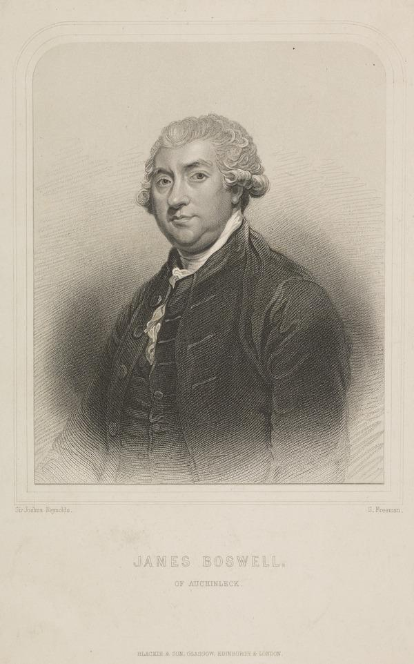 James Boswell, 1740 - 1795. Diarist and biographer of Dr Samuel Johnson