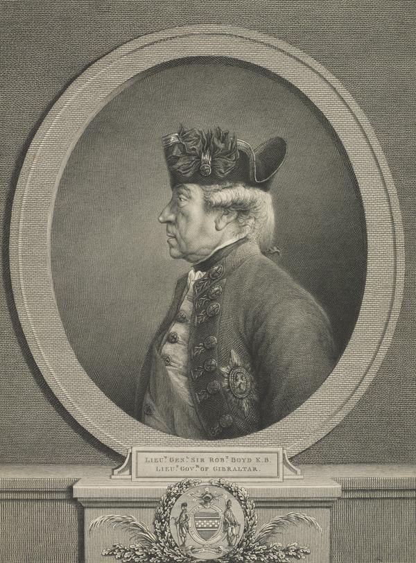 Sir Robert Boyd, 1710 - 1794. Governor of Gibraltar (Published 1789)