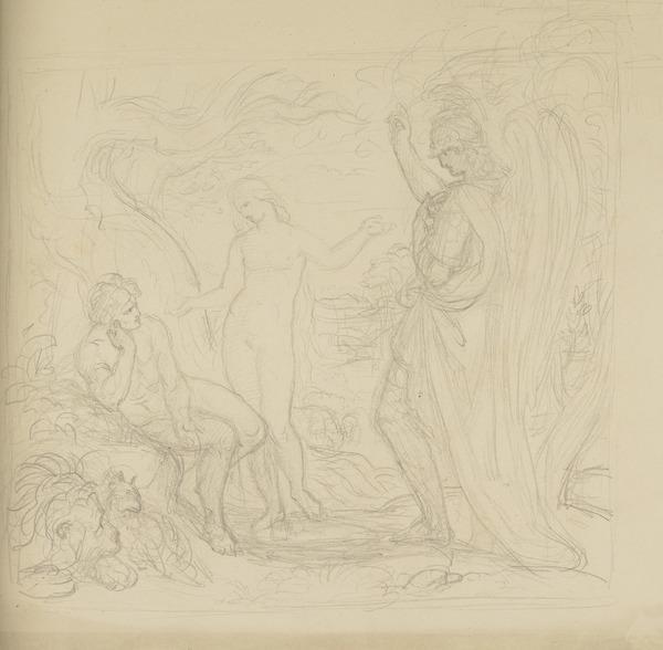The Garden of Eden [Verso: Three Fairies]