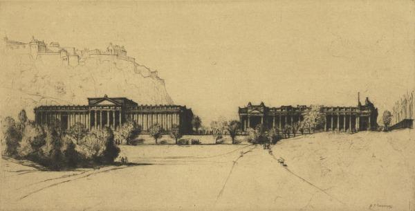 The Royal Scottish Academy Building and the National Gallery of Scotland