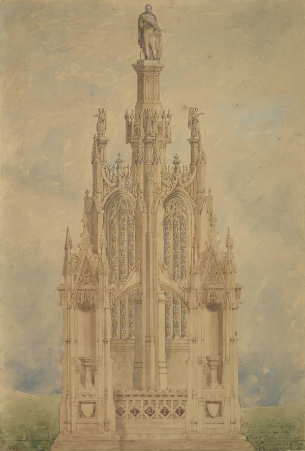 Design for the Competition for the Scott Monument, Edinburgh