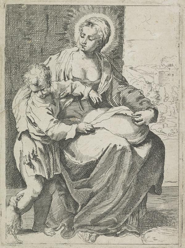 Virgin with a pillow