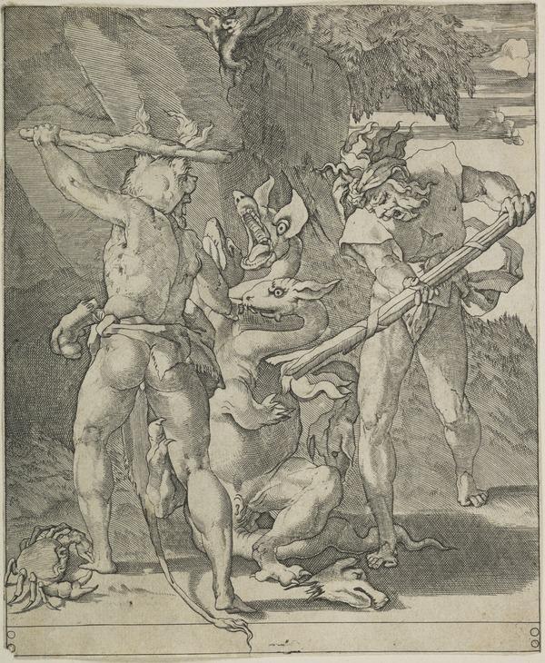 Hercules killing the Hydra of Lerna