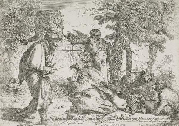Diogenes searching for a man