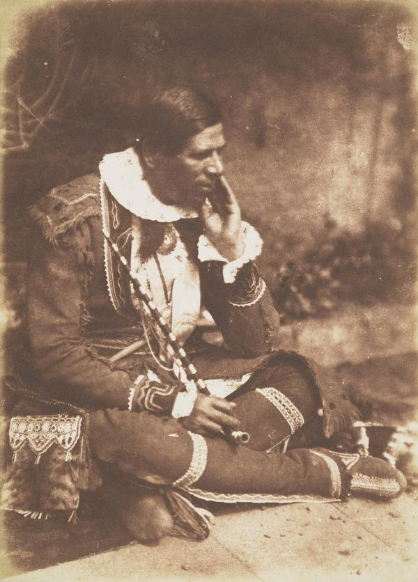 Rev. Peter Jones or Kahkewaquonaby, 1802 - 1856. Indian chief and missionary in Canada [b]