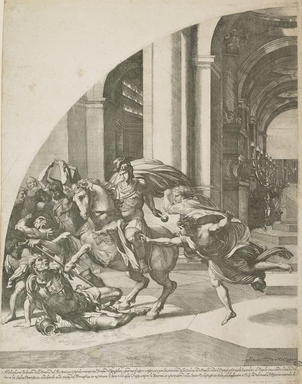 Expulsion of Heliodorus (left half)