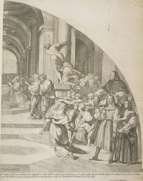 Expulsion of Heliodorus (right half)
