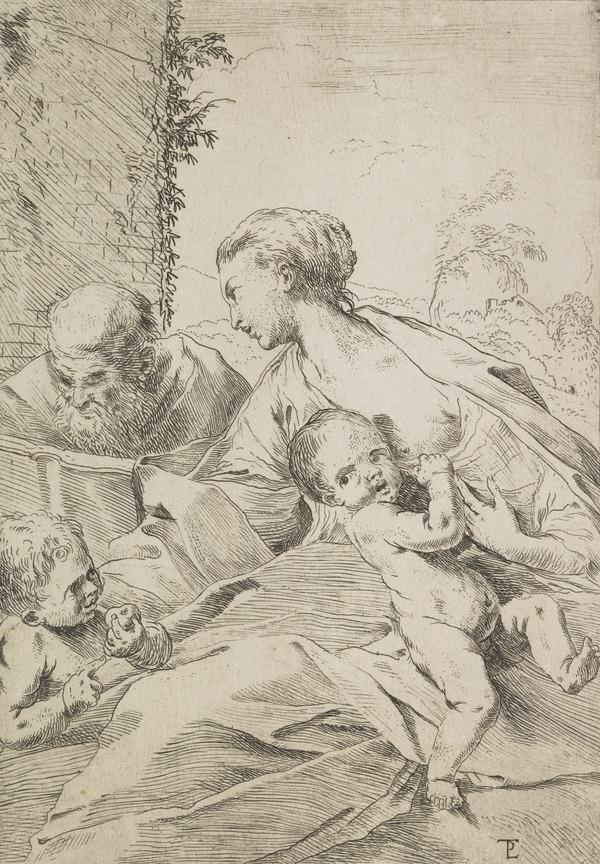 Holy Family with Infant St John holding an Apple