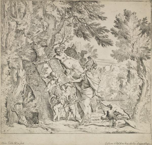 Venus bringing arms to Aeneas