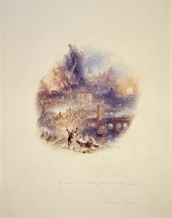 One of Twenty Vignettes - Kosciusko (Illustration to 'The Pleasures of Hope') (About 1835)