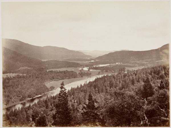 The Valley of the Dee from the Craig Walk (August or September 1863)