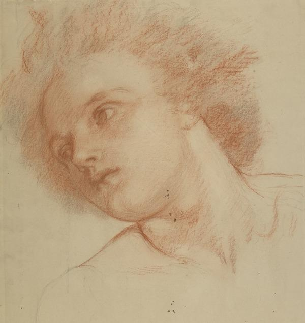 Head of a Youth: Portrait of Arthur Prinsep (About 1855 - 1856)
