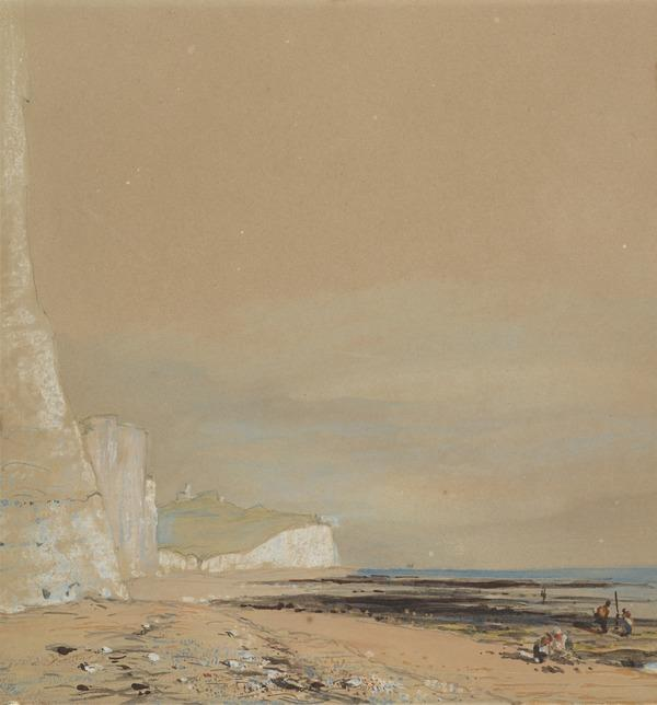 Coastal Scene with Chalk Cliffs