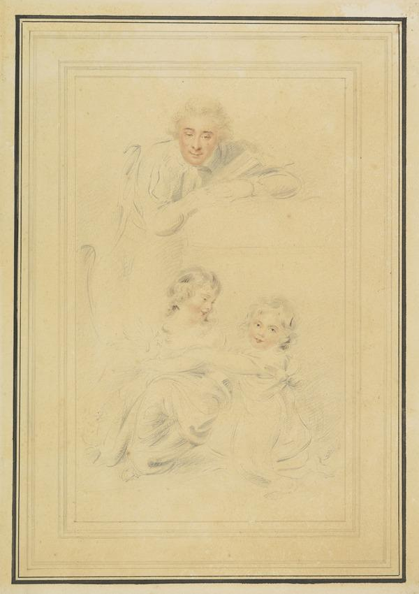 A Gentleman, possibly the Earl of Hopetoun, with his Daughters (About 1790)
