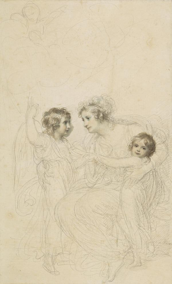 The Countess of Hopetoun with her daughters, Jasmin and Lucy (About 1790)
