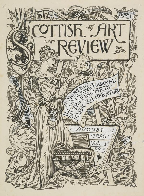Design for a Cover for the Scottish Art Review, August 1888