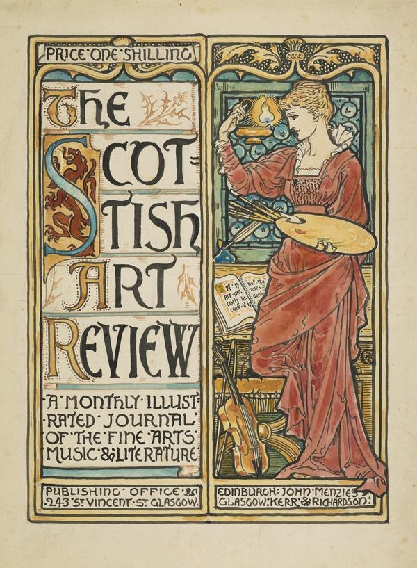 Design for a Cover for the Scottish Art Review