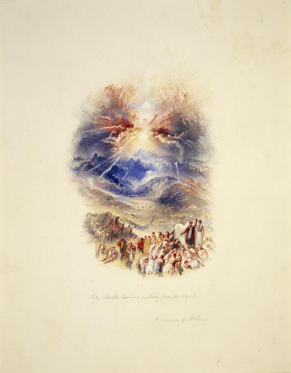 One of Twenty Vignettes - Sinai's Thunder (Illustration to 'The Pleasures of Hope') (About 1835)