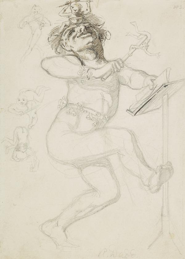 Dancing Jester with Imps (About 1842)
