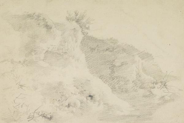 Landscape Sketch - Study of Rocks (1740s)