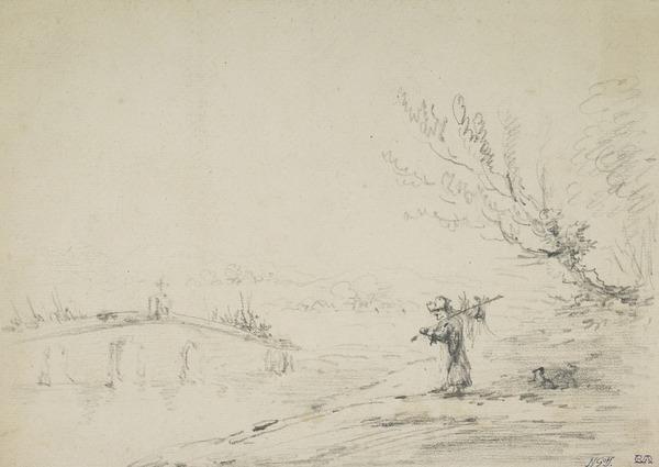 Landscape, Bridge and Peasant