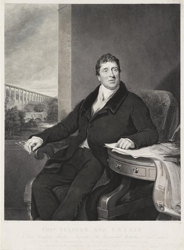 Thomas Telford, 1757 - 1834. Civil engineer (after 1822)