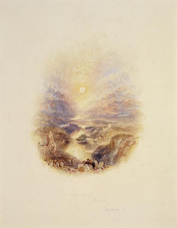 One of Twenty Vignettes - A Swiss Valley: Theodric (About 1835)