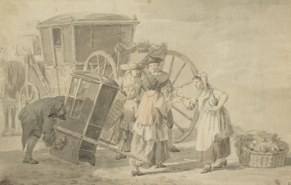 Women Quarreling in Covent Garden
