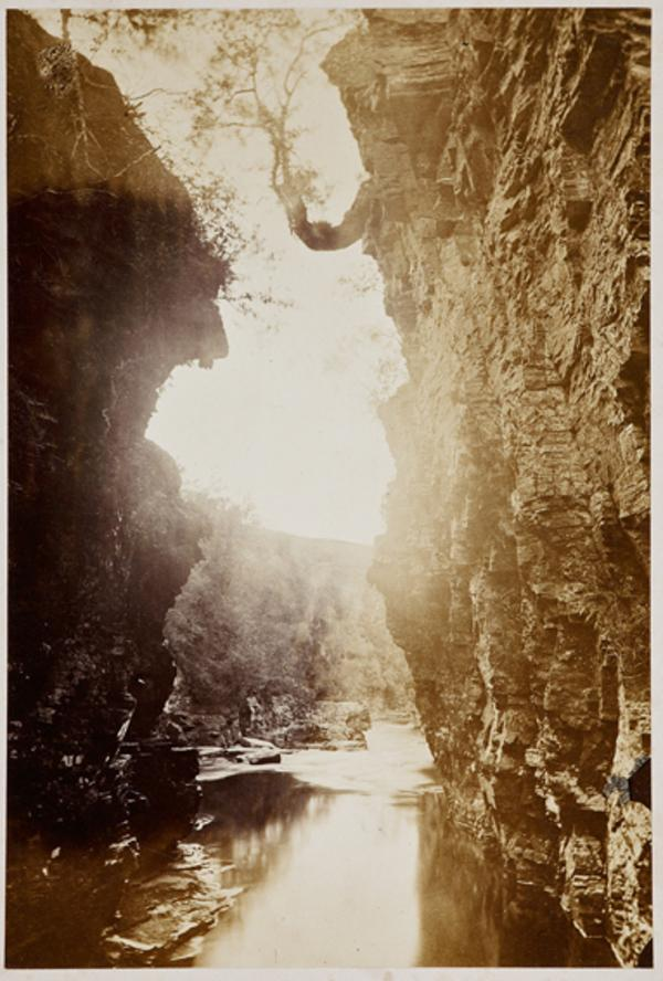 Colonel's Cave, looking west (August or September 1863)