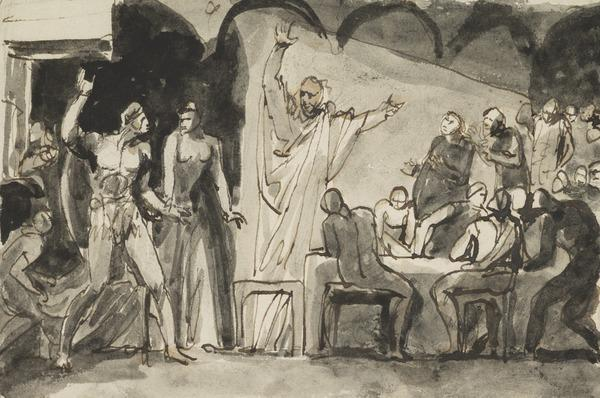 Banquet Scene in 'Macbeth' - For a Projected Painting