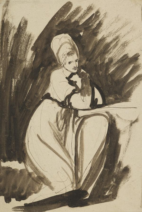 A Seated Lady, probably a study for the painting 'Elizabeth, Countess of Derby' (About 1776)