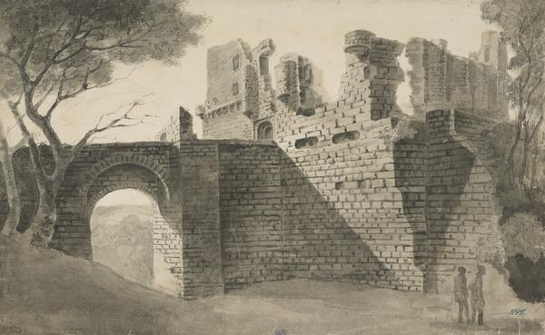 Bridge and Ruins of Rosslyn Castle (Dated 1748)