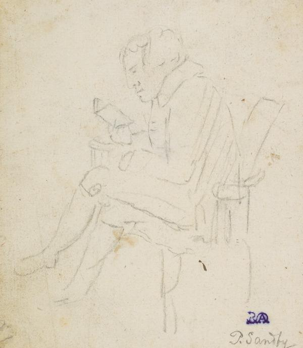 Seated Man Reading