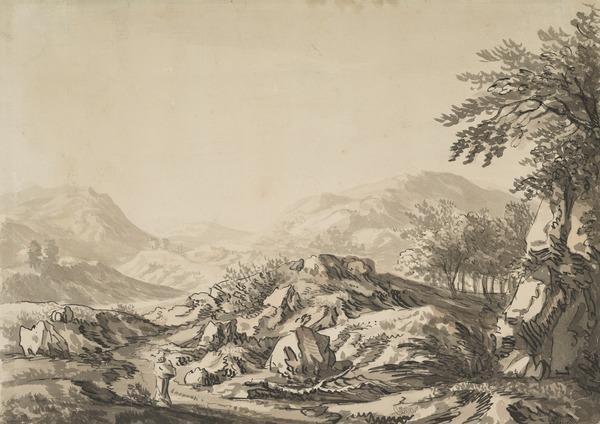 View of Mountainous Terrain, Scotland
