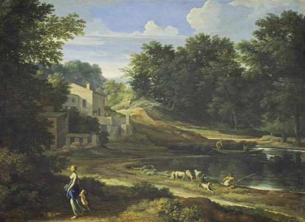 Classical Landscape with a Lake (About 1658)