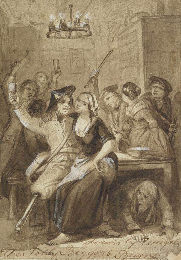 Illustration to Burns's Song 'The Jolly Beggars'