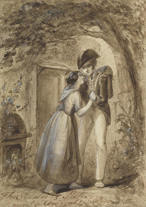 Illustration to Burns' Poem 'The Soldier's Return'