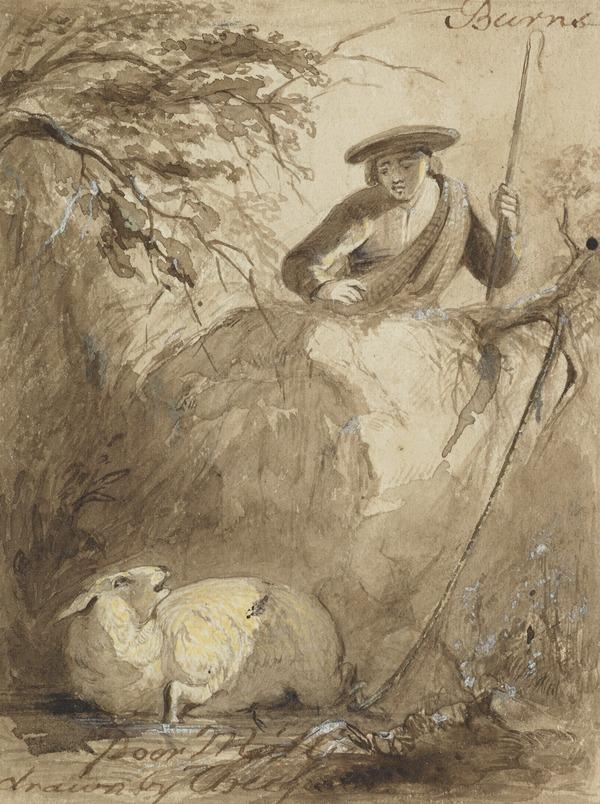 Illustration to Burns' Poem 'Poor Mailie's Elegy'