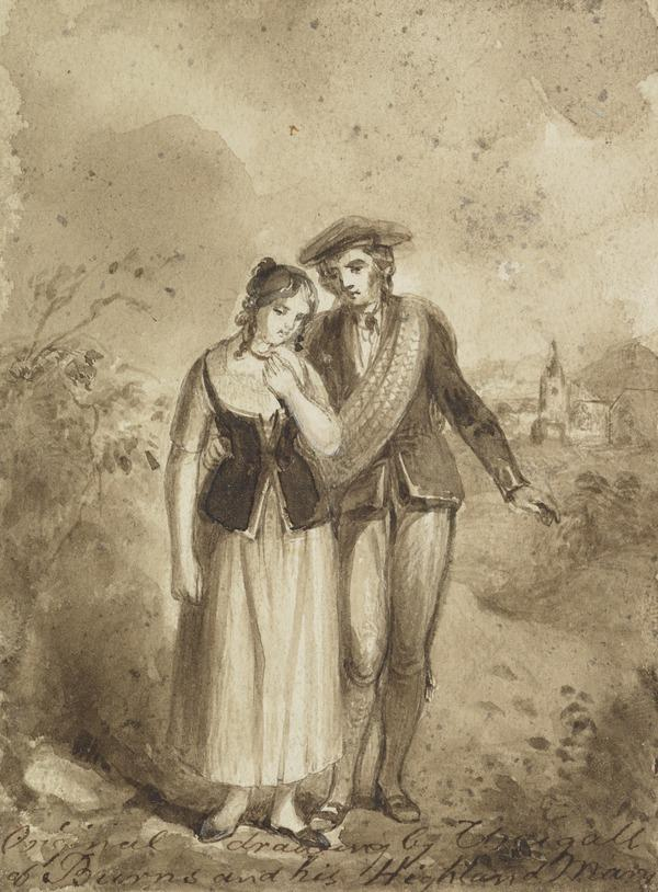 Illustration to 'Highland Mary' by Robert Burns