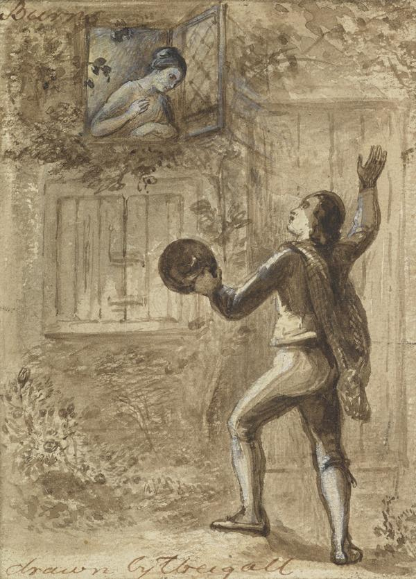 Illustration to Burns' Poem 'Let Me In This Ae Night'