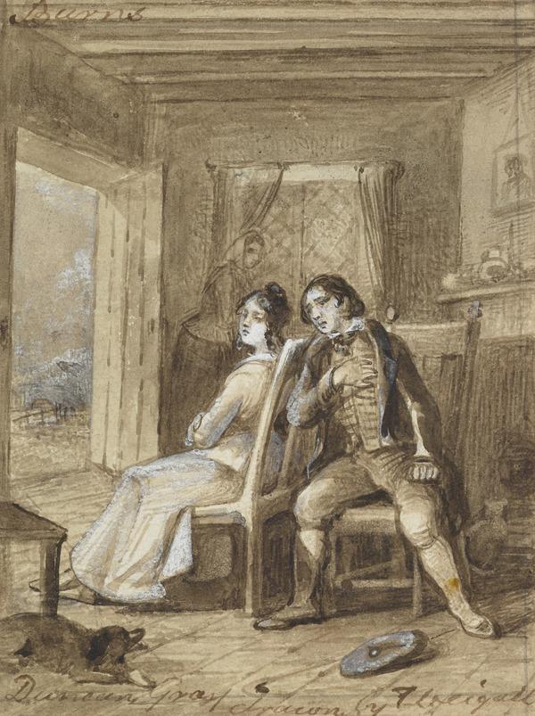 Illustration to Burns' Poem 'Duncan Gray'